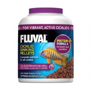 Fluval Tropical Cichlid Small Sinking Fish Pellet Food Replaces Nutrafin Foods